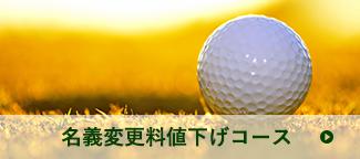 名義変更料値下げコース | ゴルフボールの写真